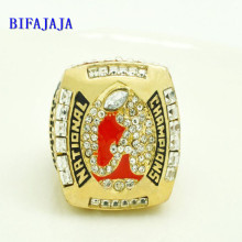 BIFAJAJA Drop Shipping 2011 Alabama Crimson Tide Kejuaraan Replica Championship Ring custom Big Size 11 replica ring Sport