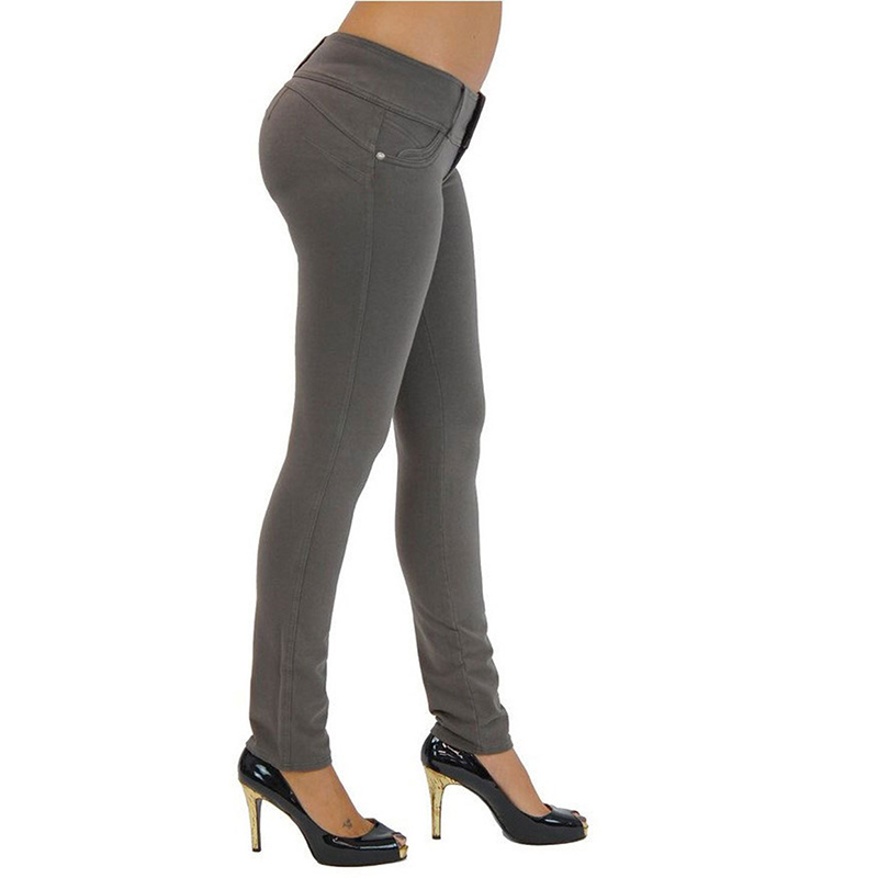 Sexy Push Up Leggings, Women's Denim Leggings, Casual Elastic Jeggings 16