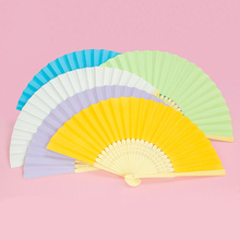 Paper Hand Fan Wedding Fans Paper Gift Wedding Beach Fan Favors Beach Wedding Ideas Hand held Fans - set of 24(China)