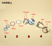 HARBLL 1PCS C-type steel card holder card spring adjustment gasket fastener for Volkswagen headlamps buckle(China)
