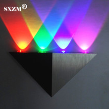 SXZM 4W LED Wall Light bedside lights AC85-265V Triangle corridor cabinet wall mounted Foyer bedroom