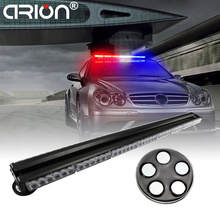 "CIRION 12"" to 47"" Double side LED Work light bar Police Beacon warning strobe emergency light Red Blue Amber Yellow White 12-24V(China)"
