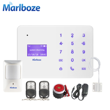 New Android IOS APP remote control GSM Alarm System Home Security Russian Spanish French English Voice Prompt Security Alarm