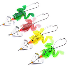 Buy 4Pcs/set 9cm 6g Soft Rubber Frog Fishing Lure Bass Pike CrankBait 3D Eye Lifelike Frog Spinner Spoon Bait Fishing Tackle Wobbler for $2.01 in AliExpress store