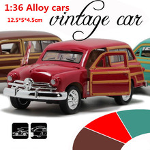 Antique Classic Car 1:36 scale alloy pull back model car, Retro Diecast cars toy,Children's gift,free shipping(China)