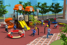 European and American standards kids outdoor amusement playground equipment Fantasyland for school/park CE/TUV/SGS YLW052