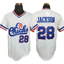 Baseball Jersey #28 Bo Jackson Chicks Baseball Jersey White Movie Jersey American Baseball Jersey Cheap Throwback Short Sleevele(China)