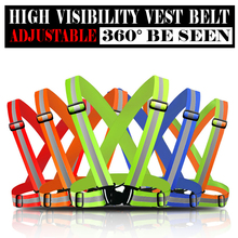 Reflective Safety Vest belt Strips for Construction Traffic Warehouse Security Reflective Strips for outdoor working running(China)
