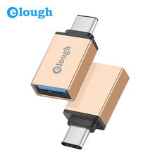 Elough USB Type C USB 3.1 OTG for Xiaomi MI4C Huawei P9 Honor 8 Nexus 6p USB Type C OTG Adapter Data Sync Charging Type-C USB-C