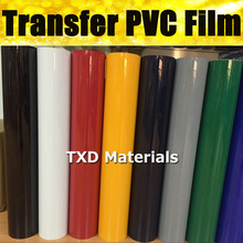 Premium quality Transfer PVC VINYL FILM WITH SIZE:(50X50CM)*2PCS Heat transfer PU film BY Free shipping