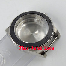 40mm Sapphire glass black brushed ceramic bezel stainless steel Watch Case fit ETA 2824 2836 movement C98