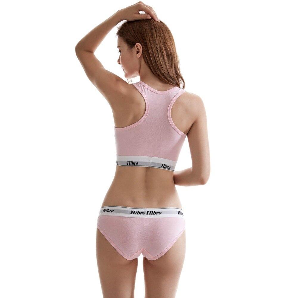 Women's underwear boxers Bra Set cotton comfortable Vest intimates Seamless Sexy Women Thongs Stretch Briefs Bras Sets 4
