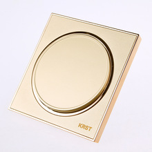 Wall Switch Socket, 86-Type High-End Home Decoration Round Extreme Gold Piano Paint, A Three-Control Switch Panel, 10A PC110-250
