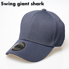 [Swing giant shark ]2017 light baseball cap outdoor men cap full closed hats rubber band hedge bone high quality snapback gorras