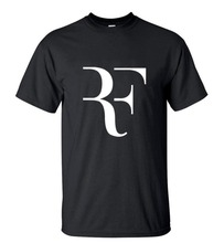 Fashion Rf Roger Federer T Shirt Men 100% Cotton Short Sleeve T-Shirt Film O-Neck Top Tees
