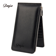 DANJUE Credit Card Holder Genuine Leather Men / Women ID Card Case Bank Credit Card Wallet Real Leather Driver License Holder(China)