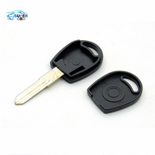 50pcs/lot Free shipping for blank transponder car key shell case cover for Vw Passat (can install chip) With Logo