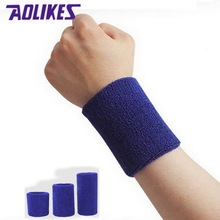 AOLIKES 6 Pcs/Lot Yoga Volleyball Tennis Wrist Support Brace Wraps Sweat Bands bracer 11 Colors Sports Wristband For Running(China)