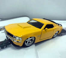 10pcs/lot Wholesale Brand New JADA 1/32 Scale USA 1970 FORD MUSTANG BOSS 429 Diecast Metal Car Model Toy(China)