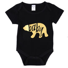 Family Matching Women Mama Baby Bear Bodysuits T-shirt Tops Outfits Clothes Cotton New Arrival Kids Boys Girls Clothing(China)
