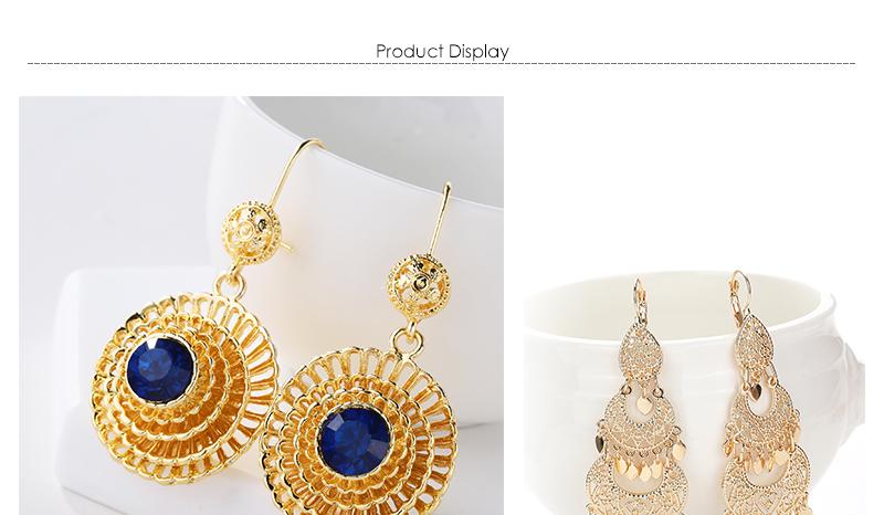 CWEEL Drop Earrings Long Women Biohemian Big Gold Color Statement Earrings Tassel Wedding Fashion Jewelry Earring Party Gifts (1)