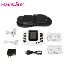 Electrical Stimulator Full Body Relax Muscle Antistres Massager Back Neck Foot Pulse TENS Acupuncture Therapy 4 Electrode Pathes(China)