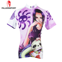 Paladin Women Cycling Jersey Anime One Piece Chopper Cycling Clothing Slim Short Sleeve Bicycle Cycling Clothes Roupa Ciclismo