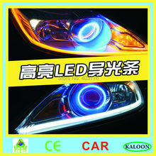 dual color led flexible DRL daytime running light white amber/ red amber/ blue amber auto LED DRL flexible bar free shipping