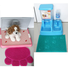 Pet Dog Puppy Cat Feeding Mat Pad Cute Paw PVC Bed Dish Bowl Food Water Feed Placemat Wipe Clean Pet Supplies PC674516(China)