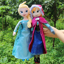 Retail 40cm Elsa Anna Plush Toys Lovely Elsa Princess Anna Snow Queen Olaf Animation Plush Toy Girl Gift Cartoon Doll Collection