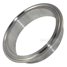 "89MM 3-1/2"" 3.5"" Flow Pipe OD Sanitary Welding on Ferrule Tri Clamp Stainless Steel SS 316 Pipe Fittings"