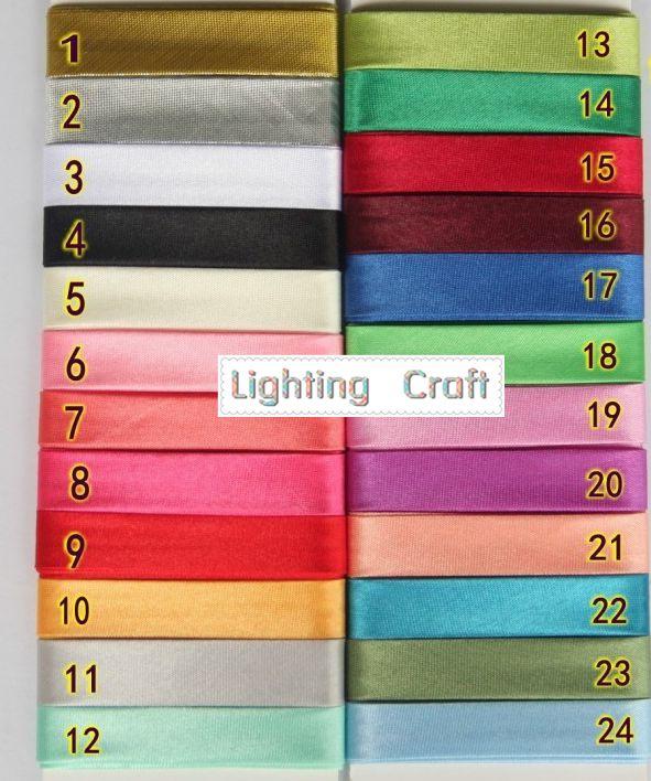 10 Meters/Lot  15MM Width Polyester Satin Ironed Single Fold Bias Binding/Bias Tape For Sewing And Craft Making Diy