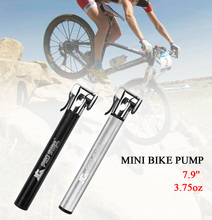 Mini Bike Pump Portable Bicycle Air Pump Designed for Presta & Schrader Valves & Road Mountain BMX Tube & Exercise Ball(China)