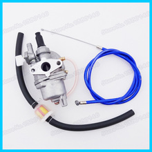 Fuel Filter Carb Carburetor Blue Gas Throttle Cable For 47cc 49cc Dirt Pocket Bike Moto Mini Atv Quad Moped Scooter