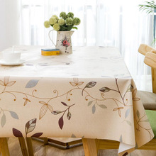 PVC tablecloth waterproof oil repellent waterproof tablecloth European country style rectangular print tablecloth wholesale