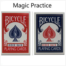 1 piece Bicycle Poker Blue/Red Standard Bicycle Playing Cards Magic Tricks MADE IN CHINA Training Poker Card for begainner WYQ
