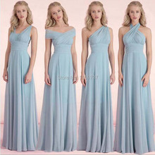 Latest Simple Design New Brand Bridesmaid Empire Dress Sleeveless Young Ladies Long Dress Custom Made 4 Styles Choice