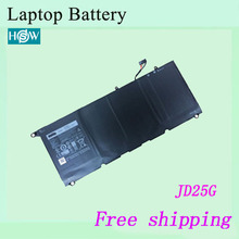 High quality Original Laptop Battery For DELL XPS 13 XPS 13-9343 JD25G 0N7T6 0DRRP RWT1R XPS 13D-9343-1808T batteries