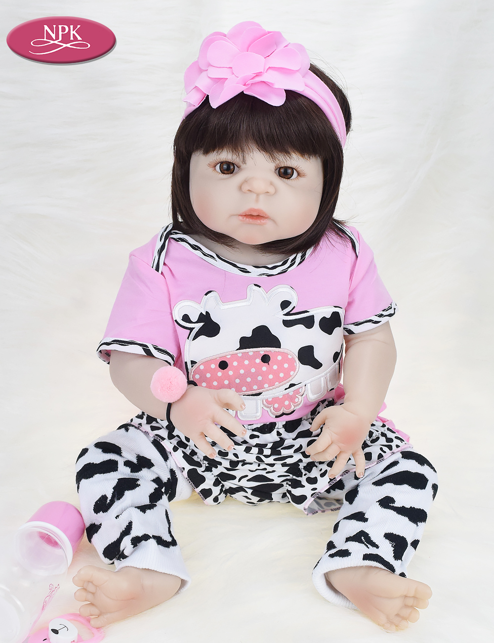 NPK Real 57CM Full Body SIlicone Girl Reborn Babies Doll Bath Toy Lifelike Newborn Princess Baby Doll Bonecas Bebe Reborn Menina (4)