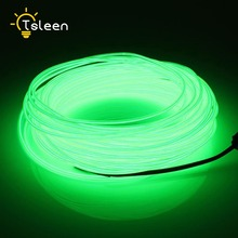 TSLEEN LED Strip Flexible Neon Light AA Battery Power 2 3 5M LED light EL Wire Tube Rope Car Party Wedding Decor With Controller(China)
