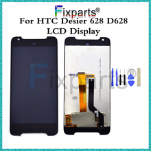"Black/White 5.0"" LCD Display For HTC Desire 628 D628 Touch Screen Digitizer Assembly Replacement parts(China)"