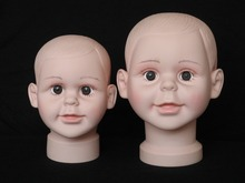 High Quality Unbreakable Realistic Dummy Baby Girls Mannequin Head Hat Display Kids Manikin Head