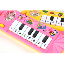 1PC Mini Piano Toy Cartoon Baby Toddler Kids Early Educational Toy Musical Instrument Boys Girls 0-7 Years Old Color Random(China)