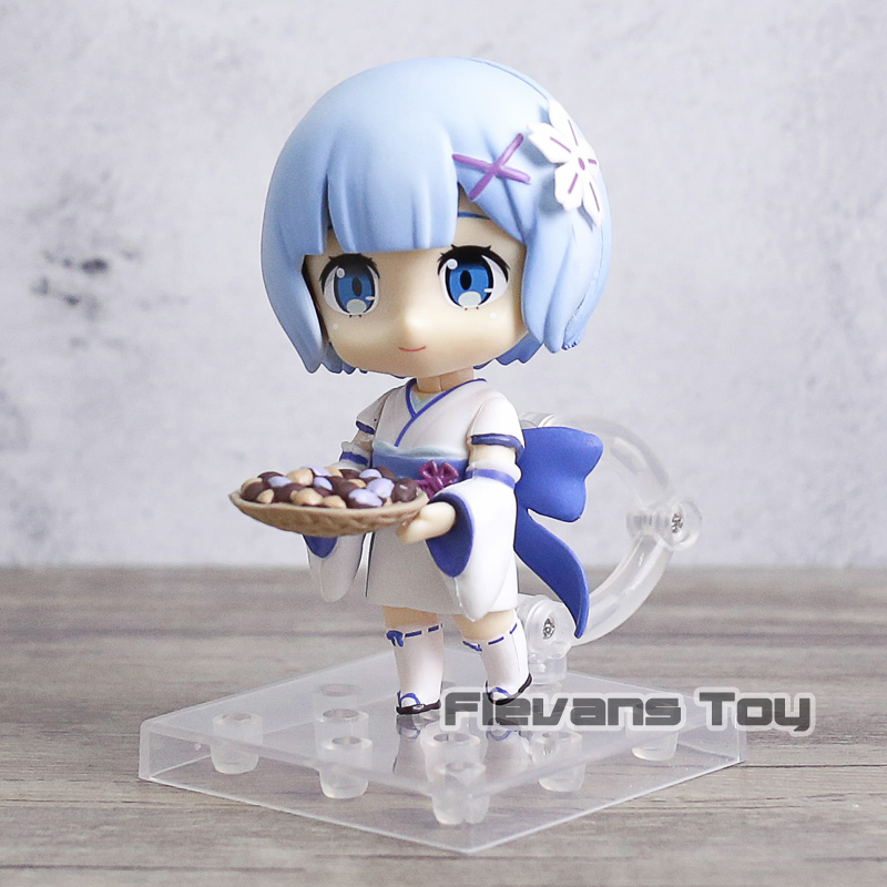 Life In A Different World From Zero Q Version Nendoroid #751 Half-elf Kawaii Emilia Pvc Action Figure Model Toy G306 Anime Re Toys & Hobbies