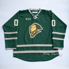 Custom London Knights your name and number Stitched Green Hockey Jersey