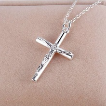 2016 Silver Jewelry Necklace Cross Pendant Necklace For Women Party AN114