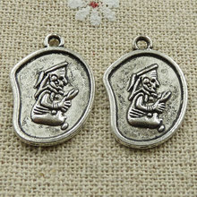 180 pieces tibetan silver nice charms 23x15mm #528