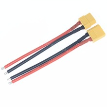 "1 Pair XT60 Connector Male Famale With 14AWG Silicone Wire Cable 3.9"" (10cm) For RC ESC Speed Controller Electric Motor Engine(China)"