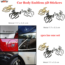 Free shipping Spiderman 1pcs 3D Metal Auto /Motorcycle Logo Totem Car Emblem Badge body Sticker 2 styling Silver Gold car decals(China)