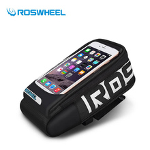 Roswheel Bike Bag Front Bicyle Frame Top Bag Rainproof Touch Screen Road MTB Cycling Handlebar Basket For 5.7'' Cell Phone Case(China)